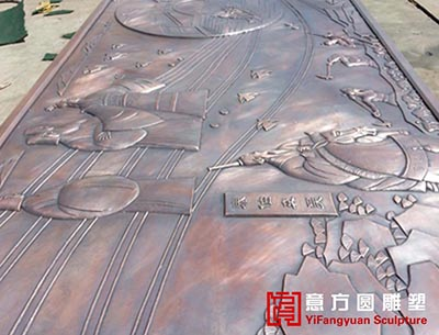 苏宁集团——苏宁南广场大型锻铜浮雕壁画<<璀璨江南>>