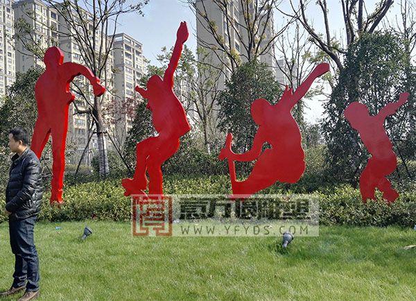 公园不锈钢剪影雕塑
