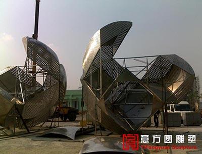 江苏爱康几天企业精神文化雕塑 - 意方圆雕塑 不锈钢