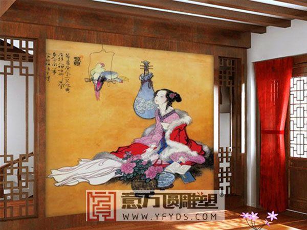 酒店手绘壁画