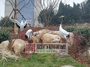 江苏镇江科技大学玻璃钢仙鹤网上买足彩